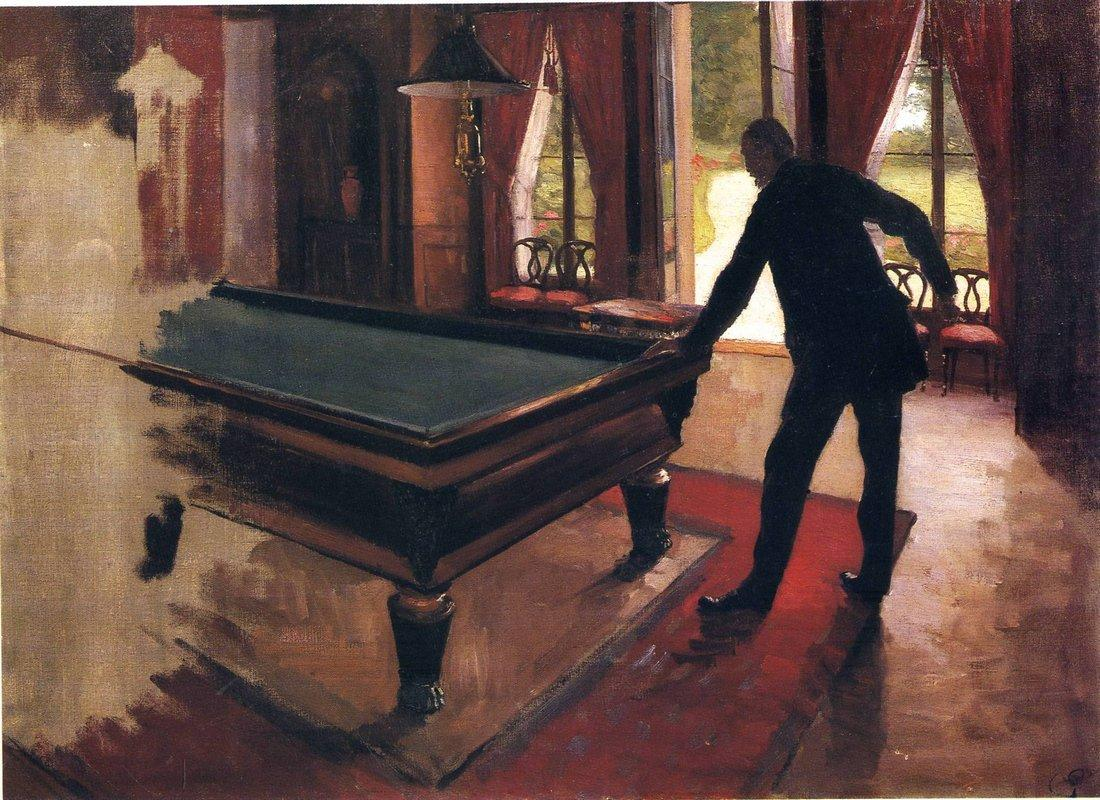 Billiards - Gustave Caillebotte