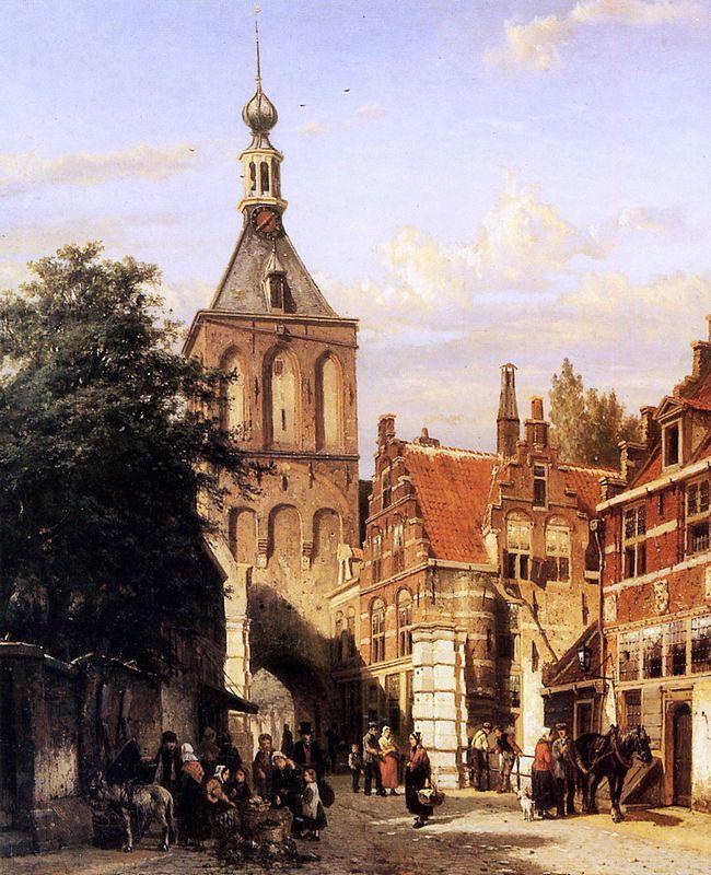 Binnenpoort in Culemborg - Cornelis Springer