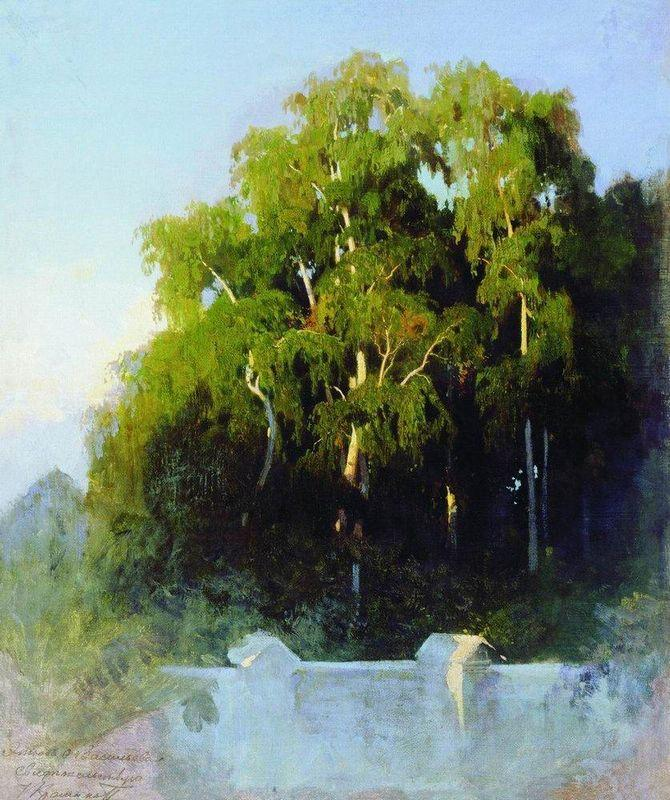 Birch Grove in the Evening - Fyodor Vasilyev