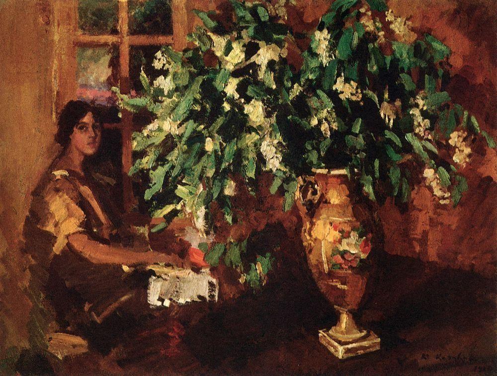 Bird cherry  - Konstantin Korovin