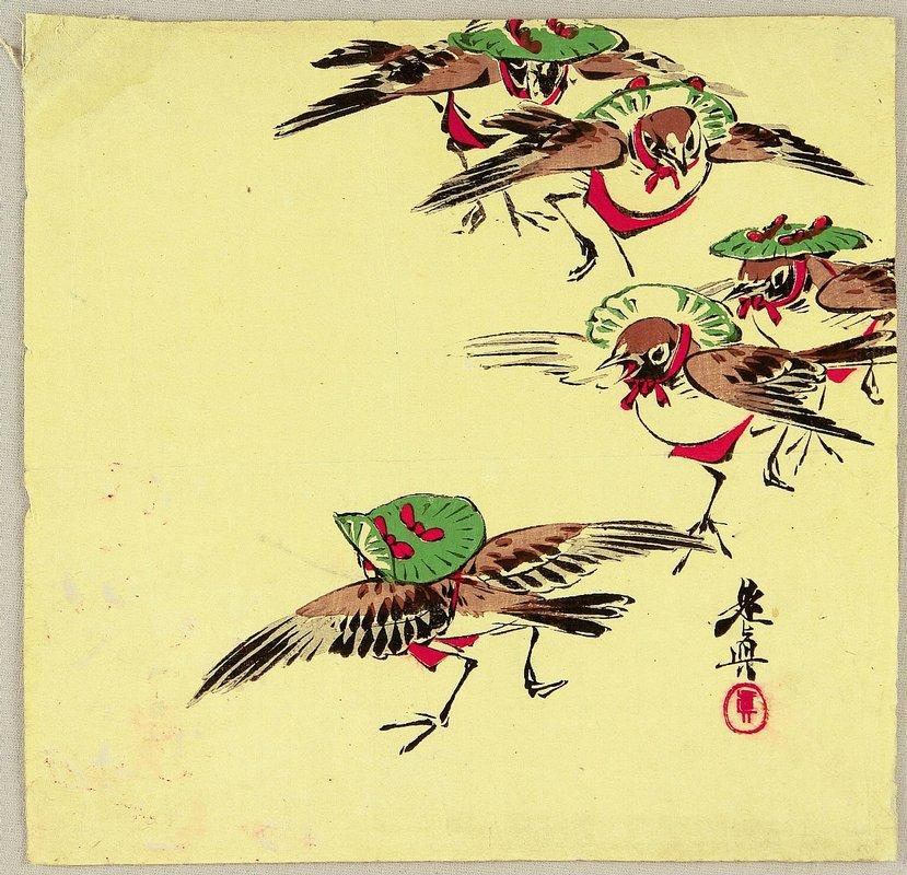 Birds in Festival - Shibata Zeshin