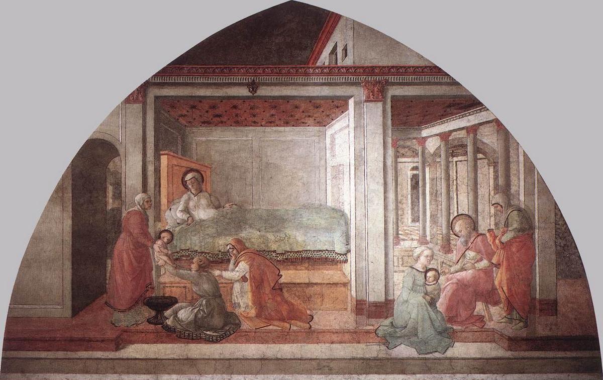 Birth and Naming St. John - Filippo Lippi