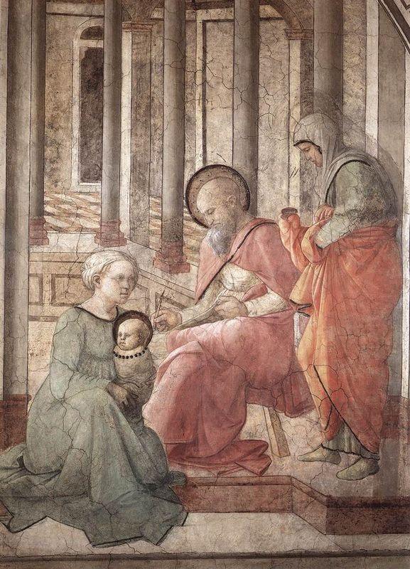 Birth and Naming St. John (detail) - Filippo Lippi