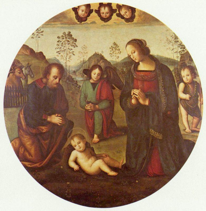 Birth of Christ, Tondo - Pietro Perugino