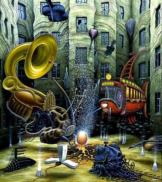 Birth of Life - Jacek Yerka