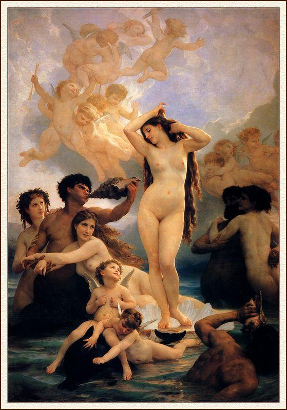 Birth Of Venus - William-Adolphe Bouguereau