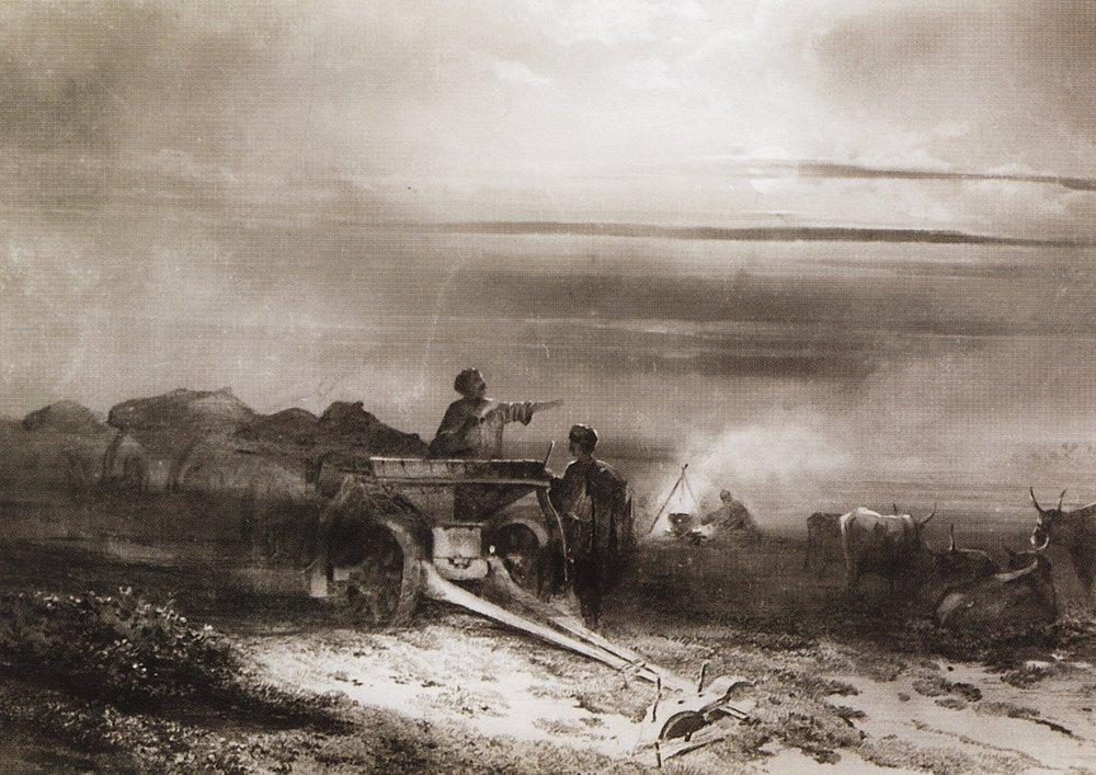 Bivouac in the desert convoy Chumakov - Aleksey Savrasov