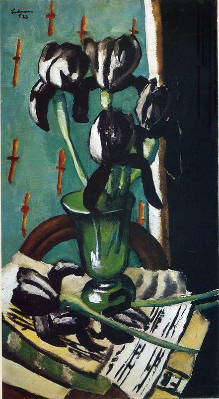 Black Irises - Max Beckmann