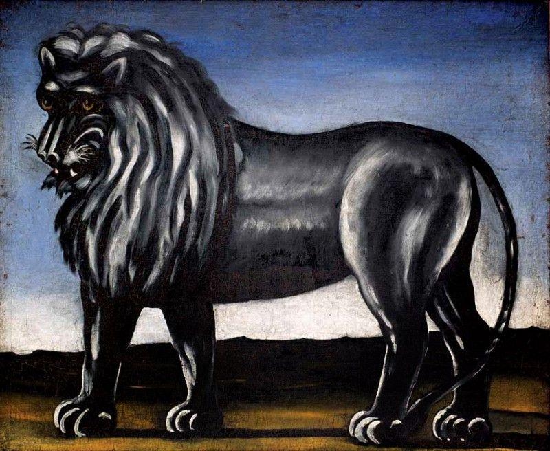 Black Lion - Niko Pirosmani