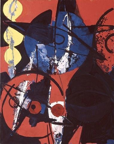 Blaufeuer - Ernst Wilhelm Nay