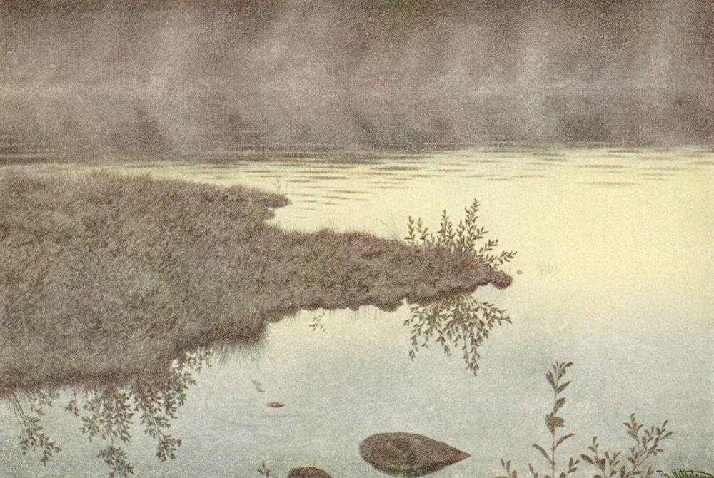 Blege Taager Vandret Over Vandet - Theodor Severin Kittelsen