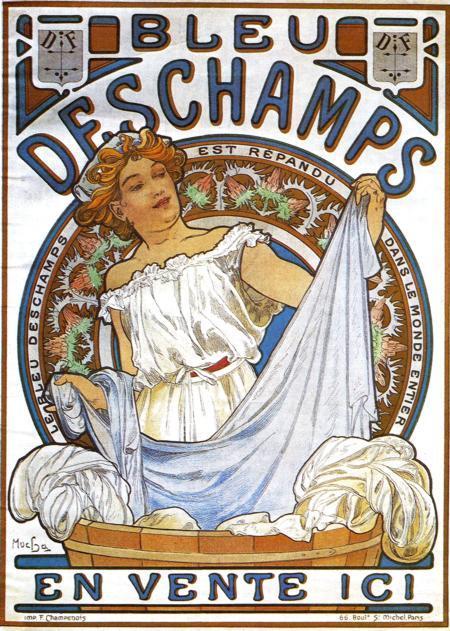 Bleu Deschamps - Alphonse Mucha