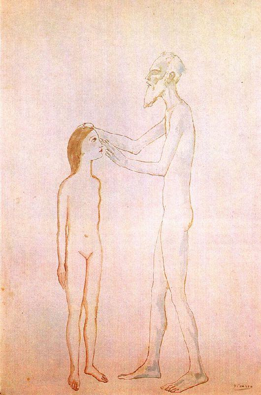 Blind man and girl - Pablo Picasso