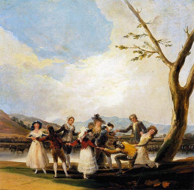 Blind Man's Buff - Francisco Goya