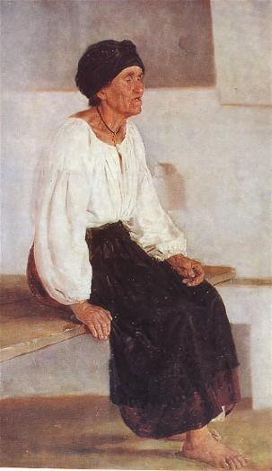 Blind Old Woman - Mykola Pymonenko