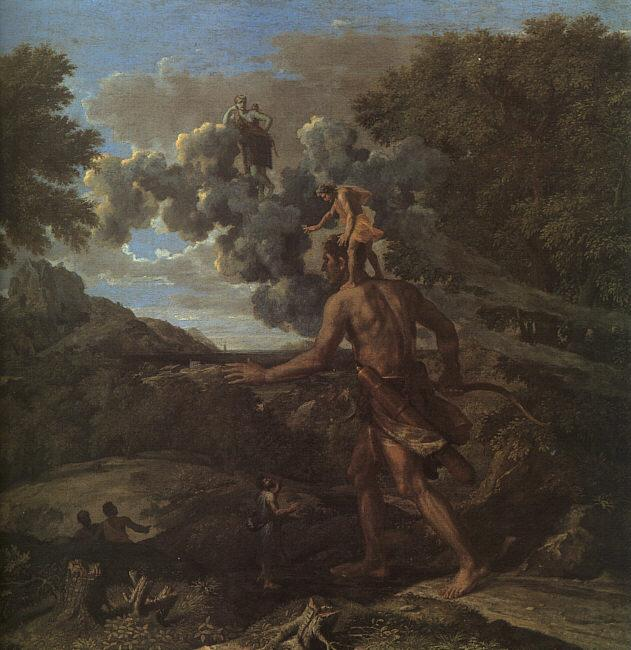 Blind Orion Searching for the Rising Sun - Nicolas Poussin