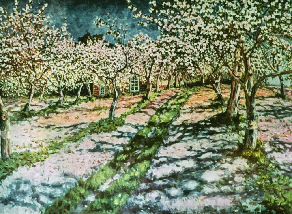 Bloomy Apple Garden - Nikolay Bogdanov-Belsky