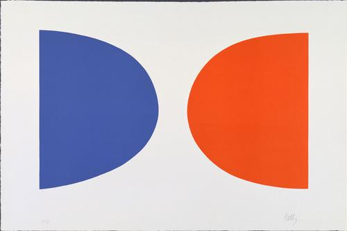 Blue and Orange from Suite of Twenty-Seven Color Lithographs  - Ellsworth Kelly