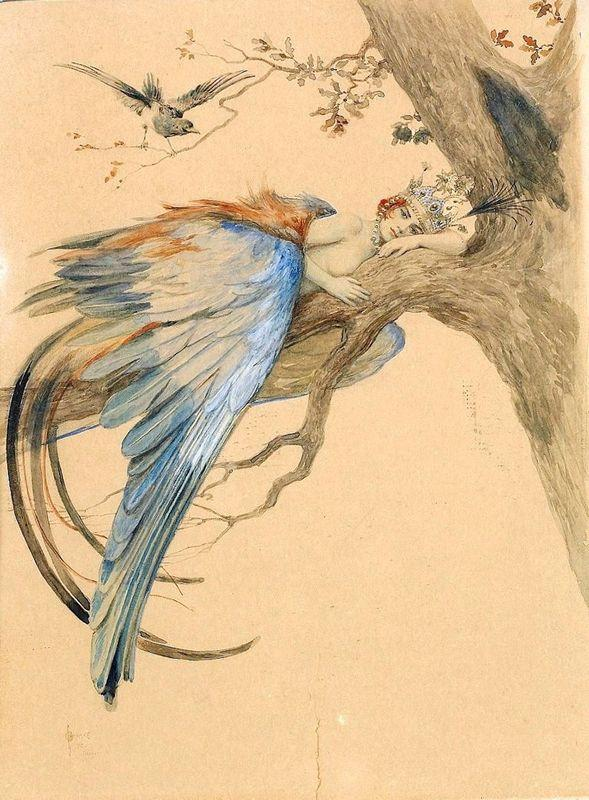 Blue Bird (Bird Sirin) - Sergey Solomko