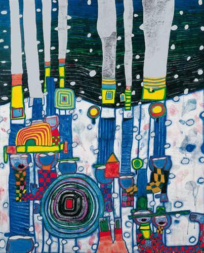 944 Blue Blues - Friedensreich Hundertwasser