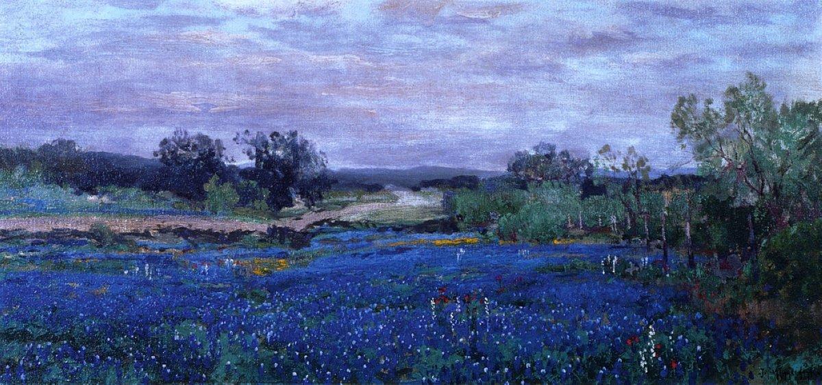 Blue Bonnets at Twilight - Robert Julian Onderdonk