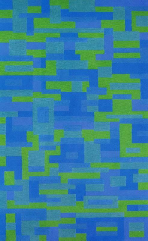 Blue-Green Painting - Ad Reinhardt