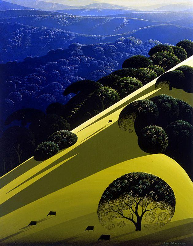 Blue Mountain Fields - Eyvind Earle