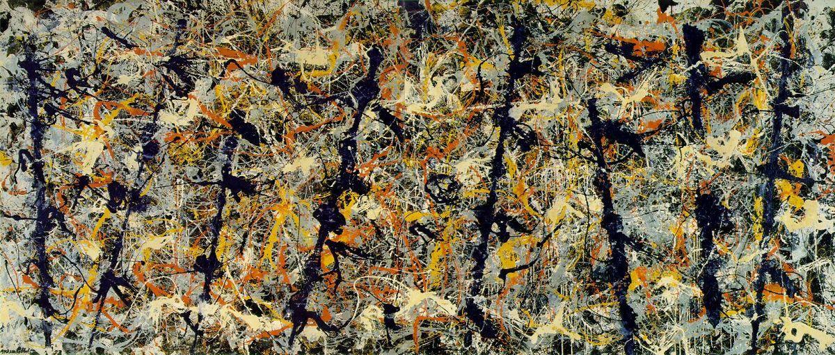 Blue poles (Number 11) - Jackson Pollock