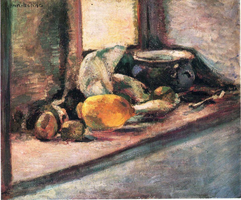Blue Pot and Lemon  - Henri Matisse