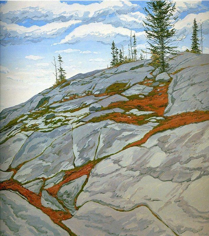 Blueberries in Fissures - Neil Welliver