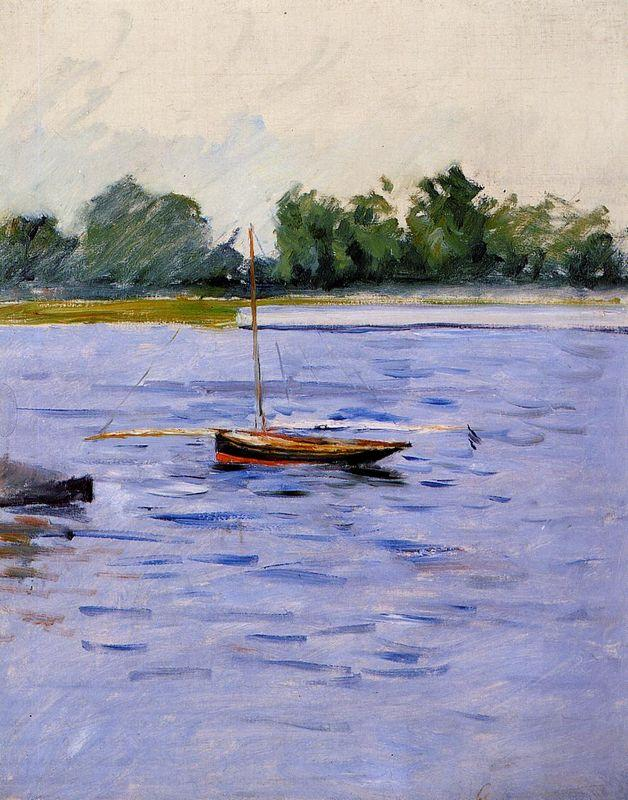 Boat at Anchor on the Seine - Gustave Caillebotte