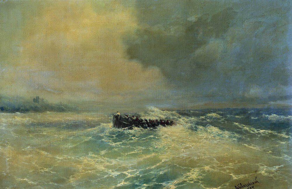 Boat at sea - Ivan Aivazovsky