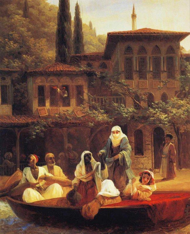 Boat Ride by Kumkapi in Constantinople   - Ivan Aivazovsky