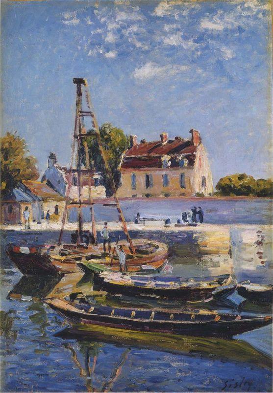 Boats - Alfred Sisley