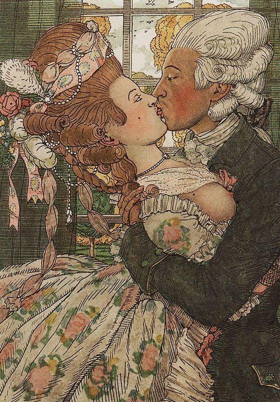 Book of the Marquise. Illustration 9 - Konstantin Somov