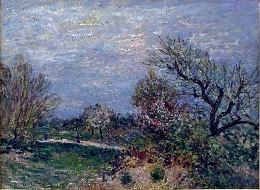 Border of the Woods - Alfred Sisley
