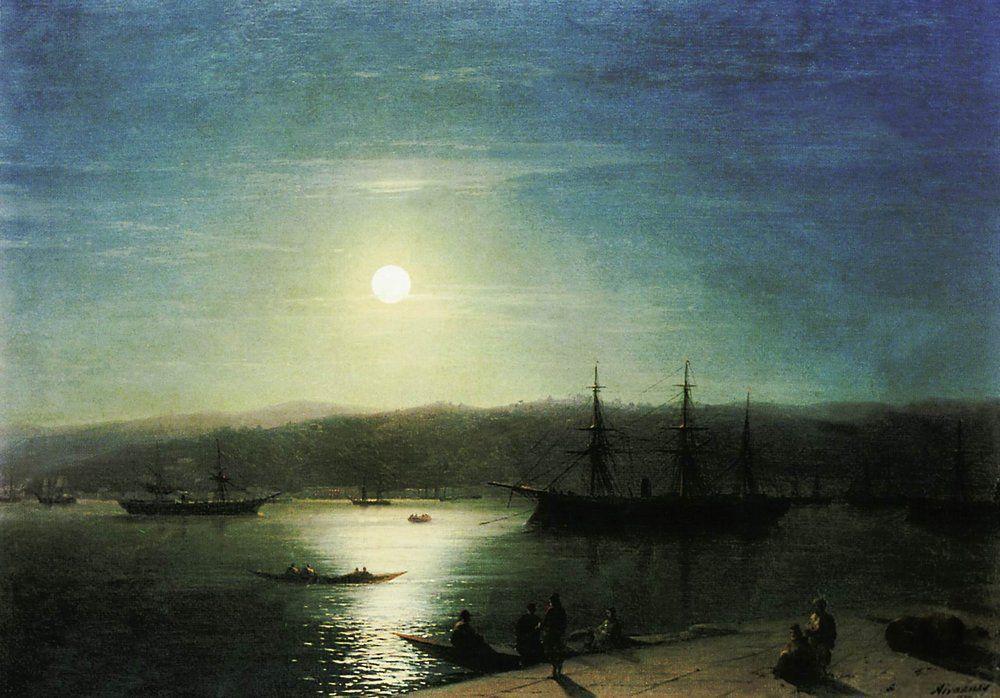 Bosphorus by Moonlight - Ivan Aivazovsky