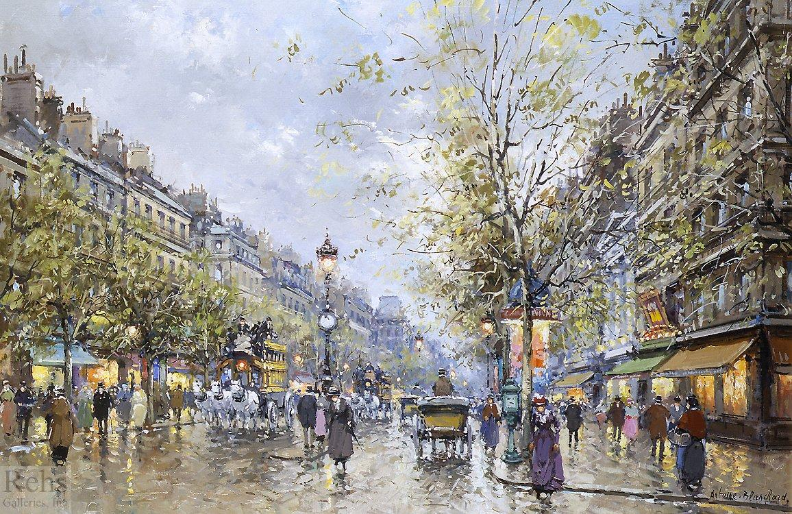 Boulevard Haussmann - Antoine Blanchard