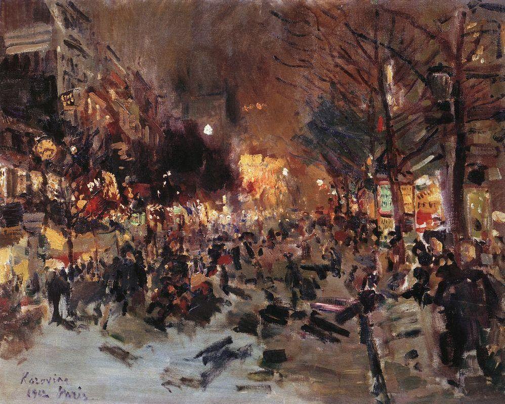 Boulevard in Paris  - Konstantin Korovin