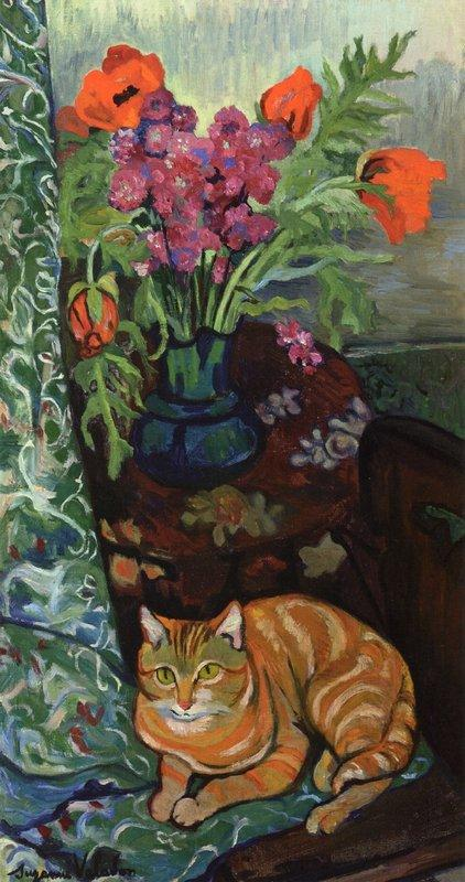 Bouquet and a Cat - Suzanne Valadon