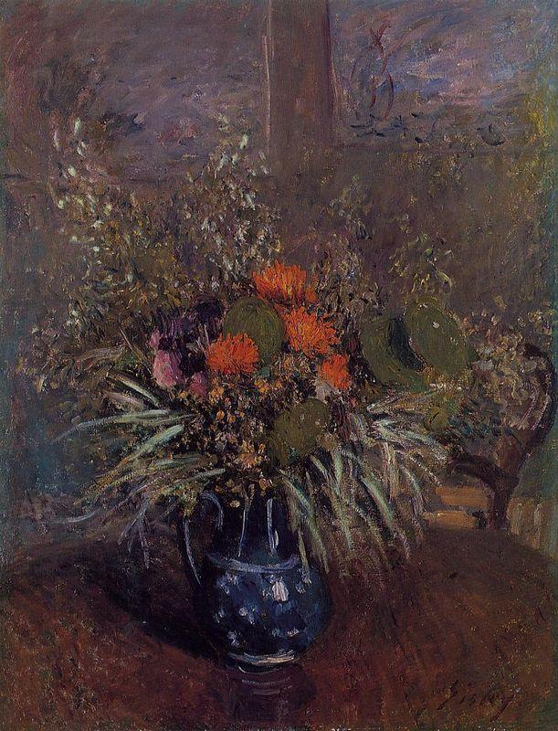 Bouquet of Flowers - Alfred Sisley