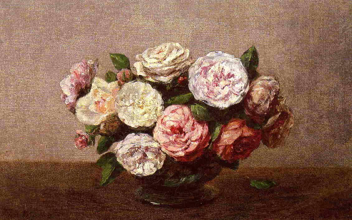 Bowl of Roses - Henri Fantin-Latour