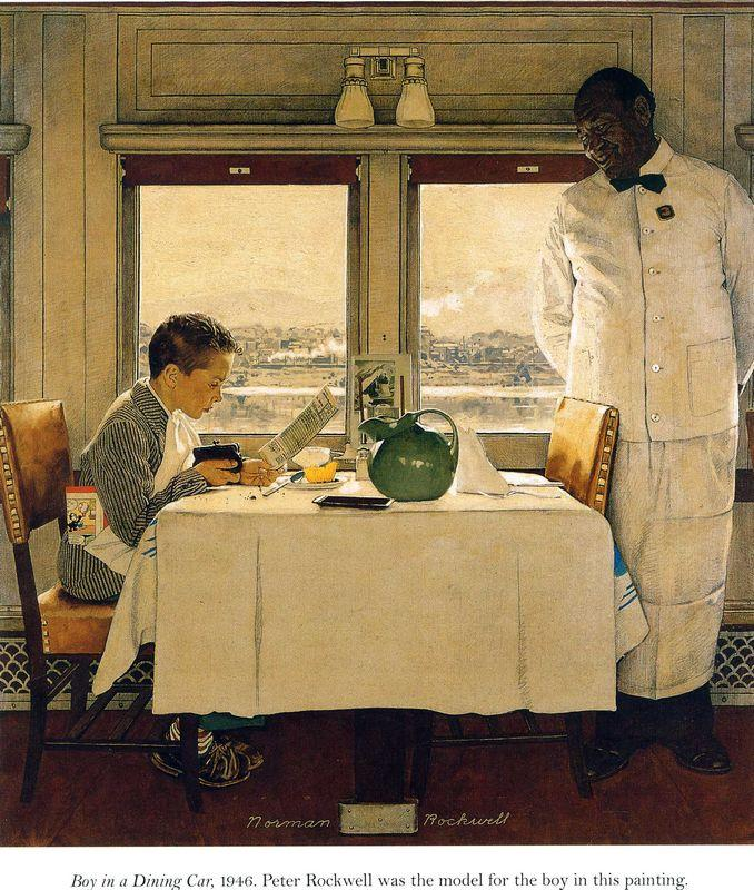 Boy in a Dining Car - Norman Rockwell
