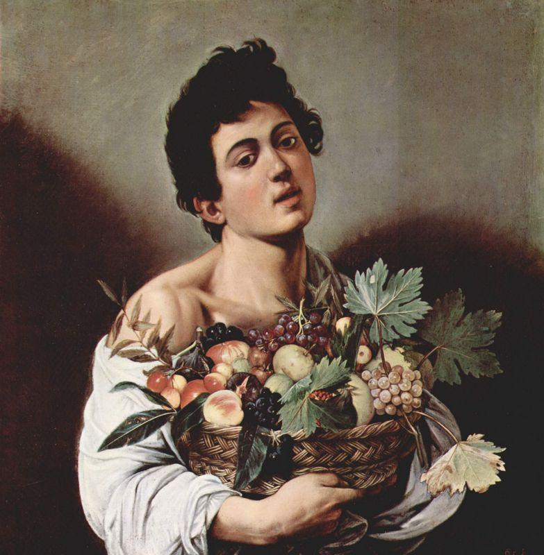 Boy with a Basket of Fruit - Caravaggio