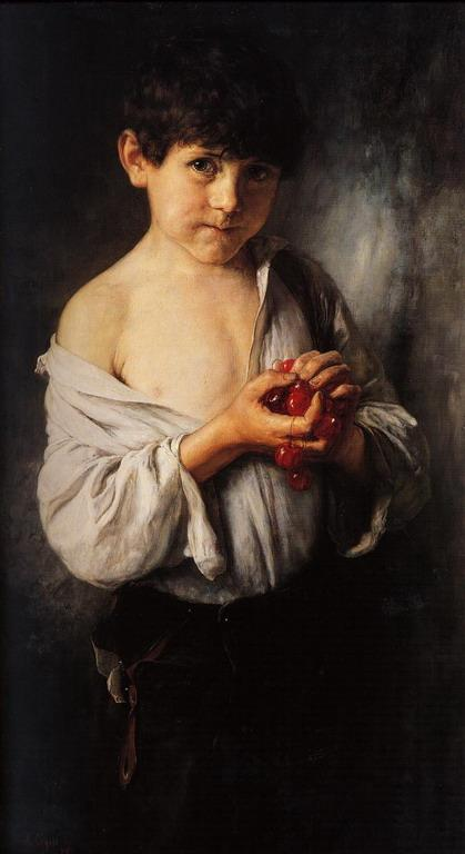 Boy with Cherries  - Nikolaos Gyzis