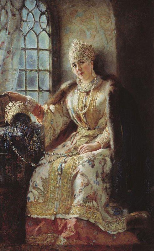 Boyar's Wife at the Window - Konstantin Makovsky