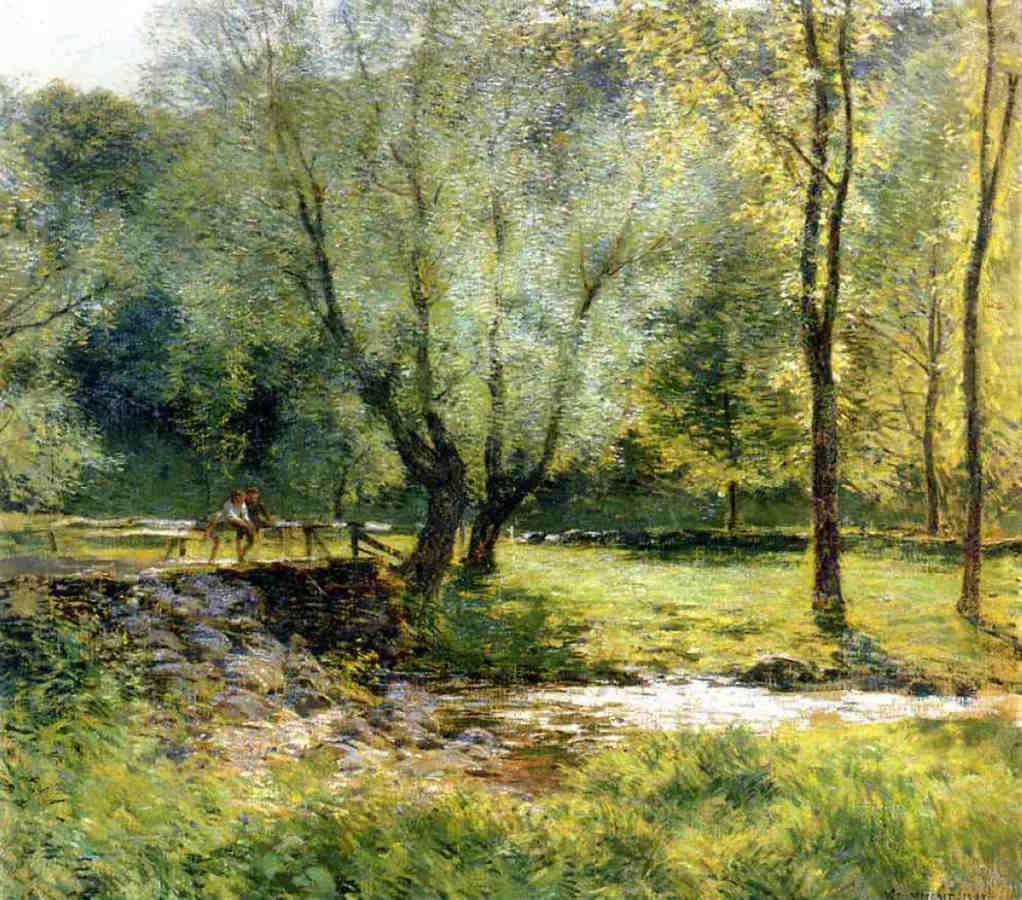 Boys Fishing - Willard Metcalf