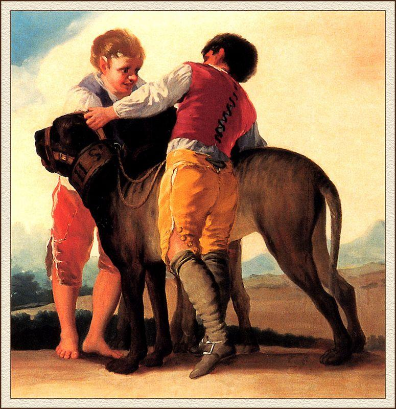 Boys With Mastiff - Francisco Goya