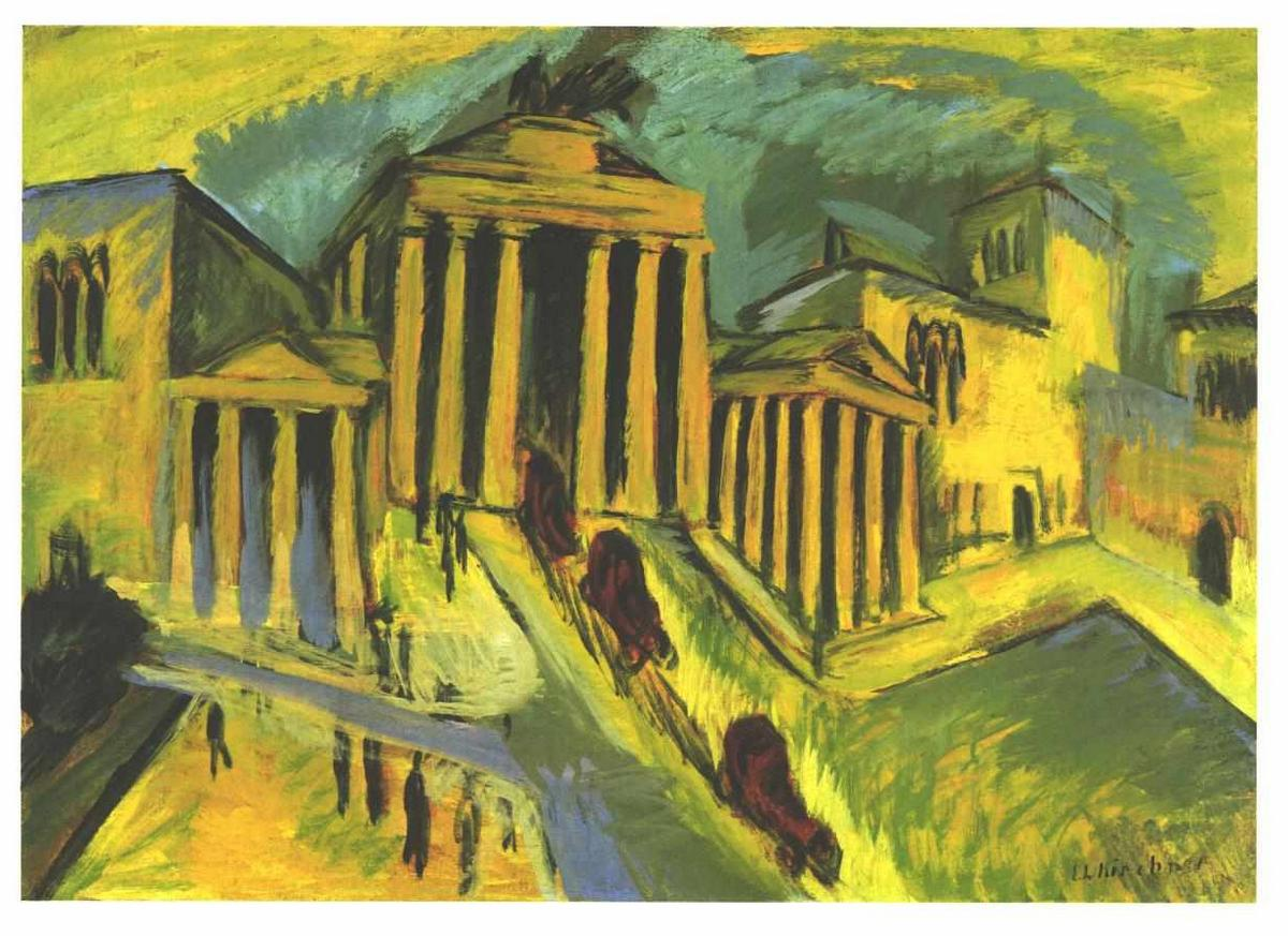 Brandenburg Gate in Berlin - Ernst Ludwig Kirchner
