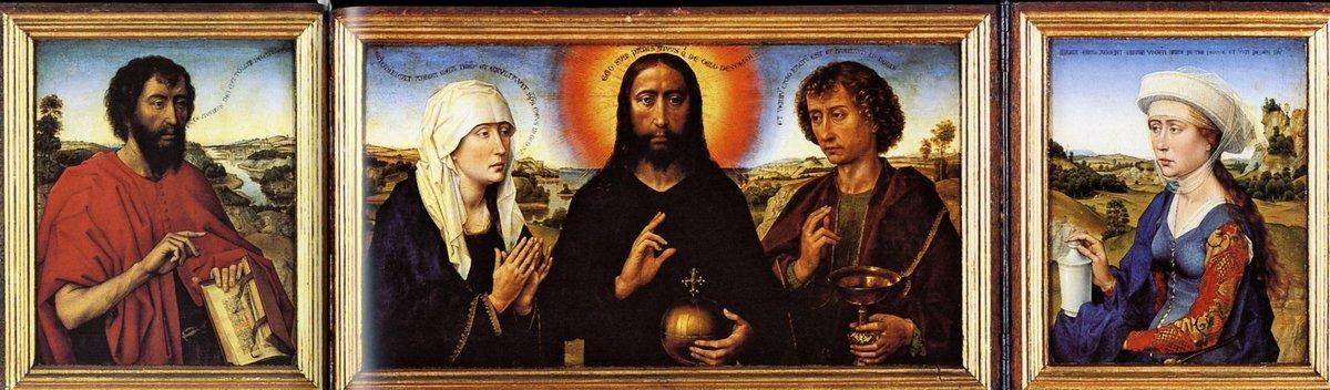 Braque Family Triptych - Rogier van der Weyden